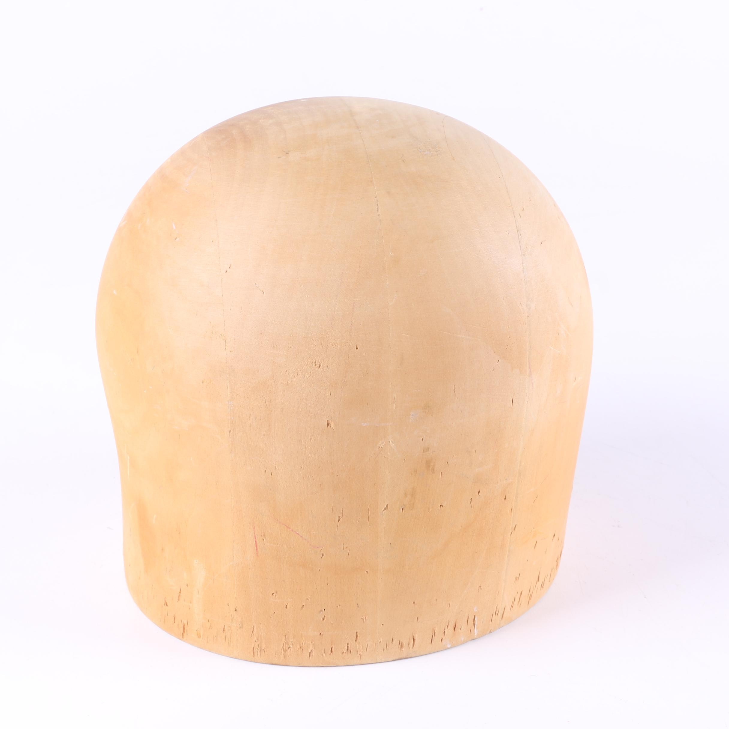 Midwest Company Wooden Milliner Hat Form
