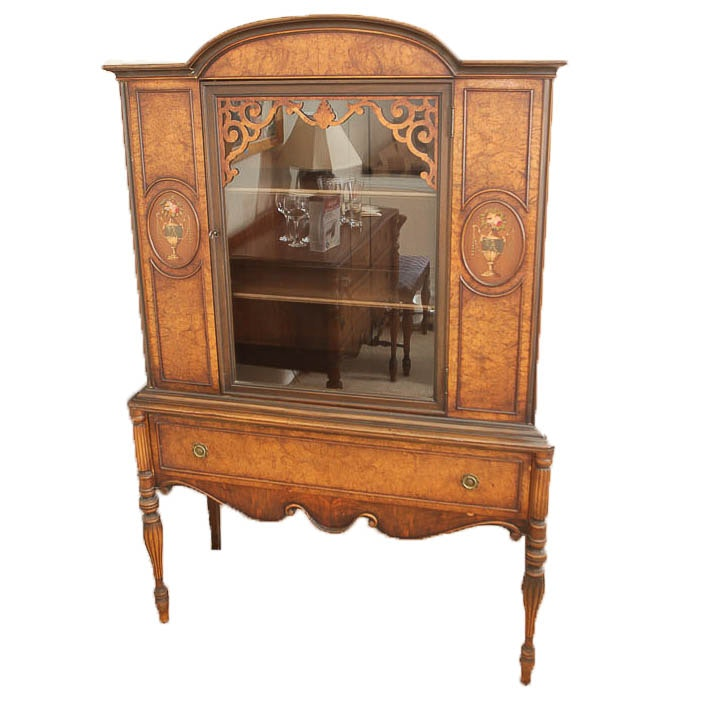 Vintage Painted Display Cabinet by Berkey & Gay