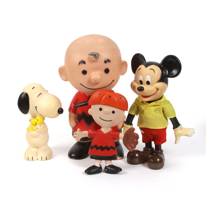 Plastic and Rubber Toys Featuring Peanuts