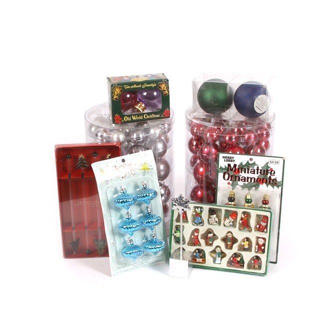 Blown Glass Ornaments and Seasonal Decor