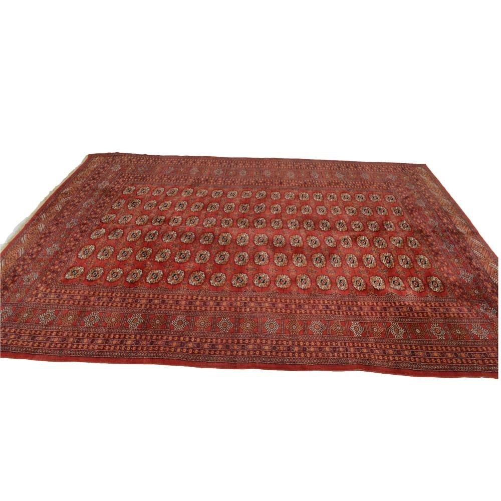 Hand Knotted Pakistani Turkoman Bokhara Room Size Rug