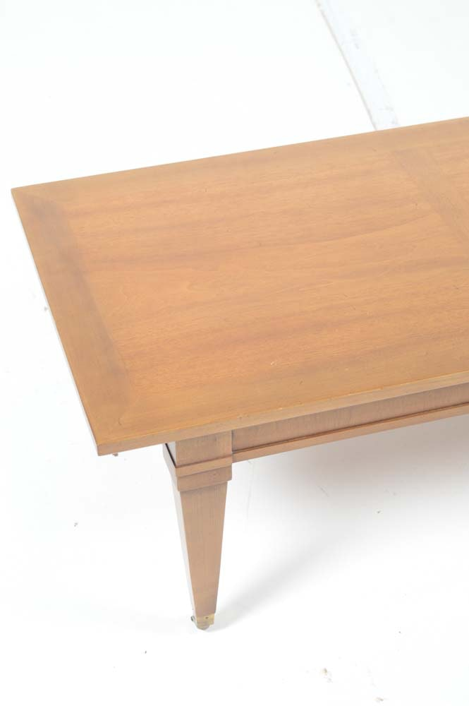 Vintage Mid Century Walnut Veneer Coffee Table Ebth