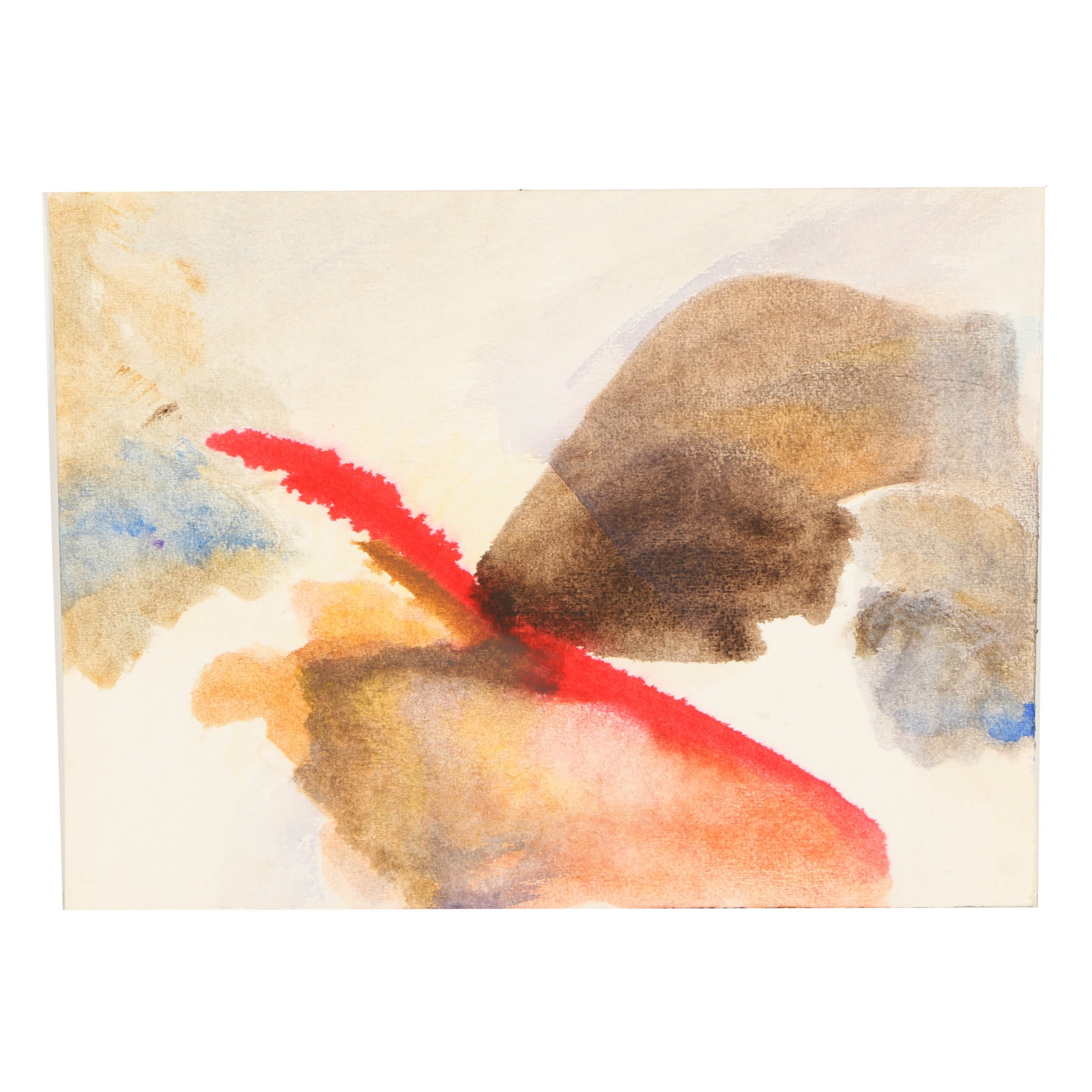 Beth Hertz Watercolor Painting on Paper of an Abstract Composition