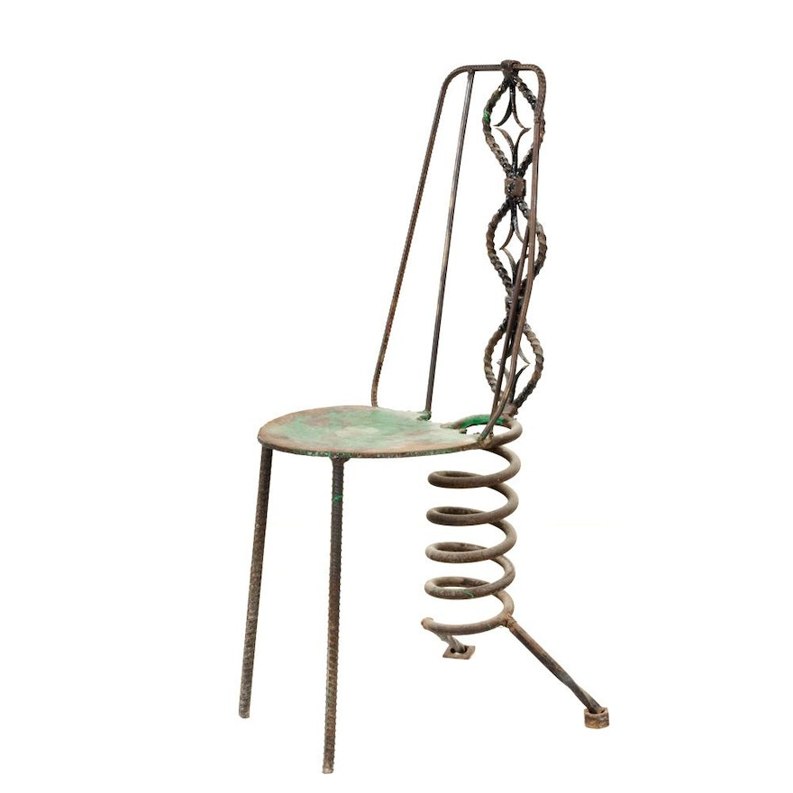 Modern Metal Sculpture in the Form of a Chair
