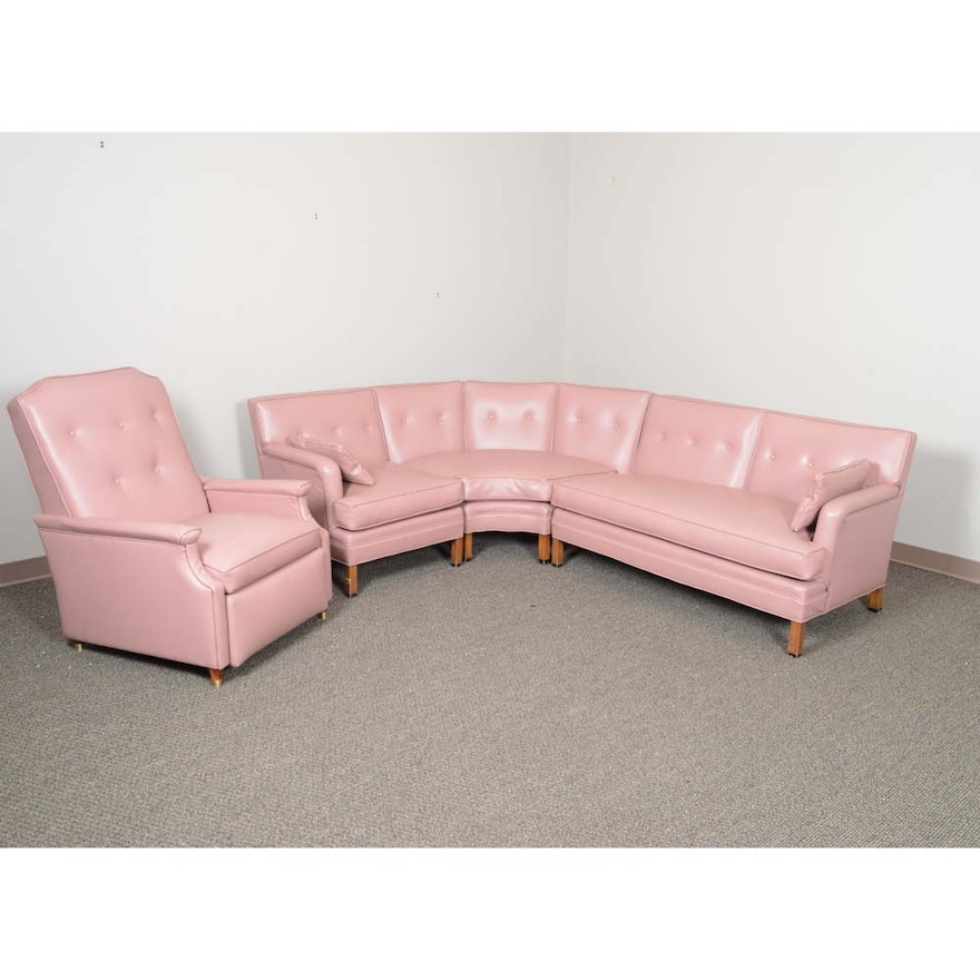Vintage Mid-Century Recliner and Sectional Sofa Featuring La-Z-Boy