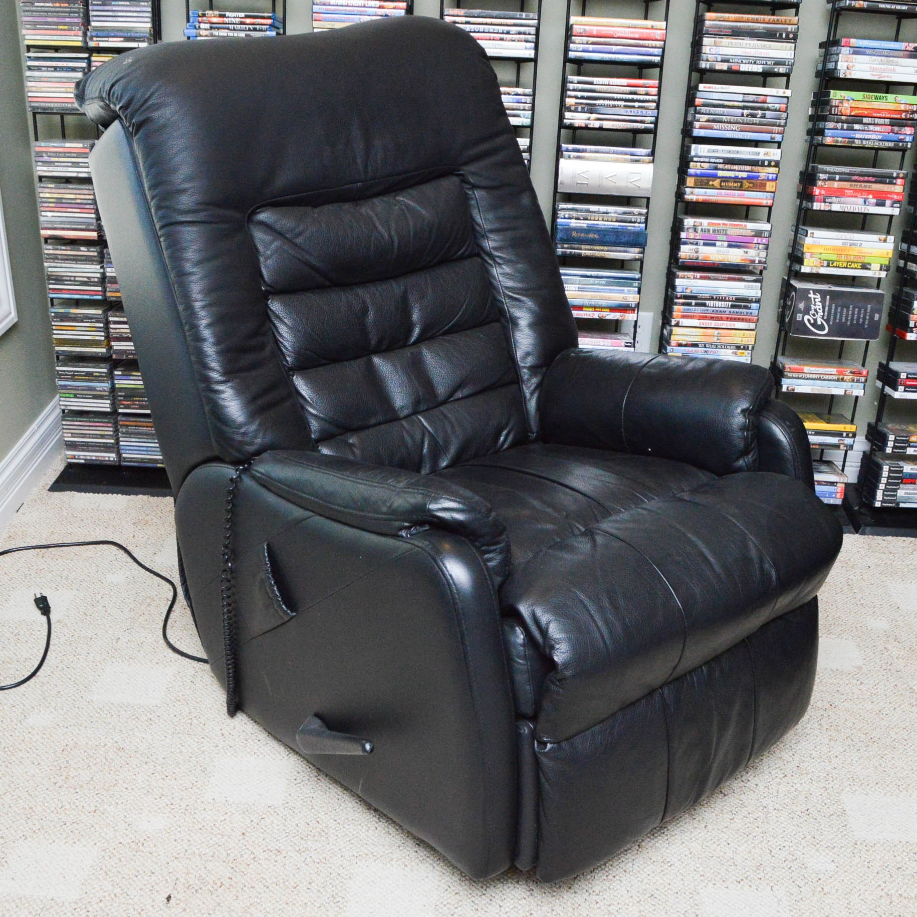 Leather Massage Chair Recliner by HTT