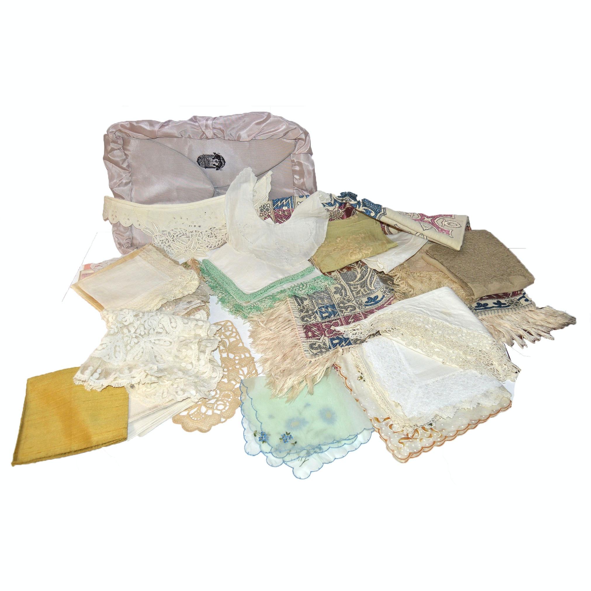 Vintage Handkerchiefs and Linens