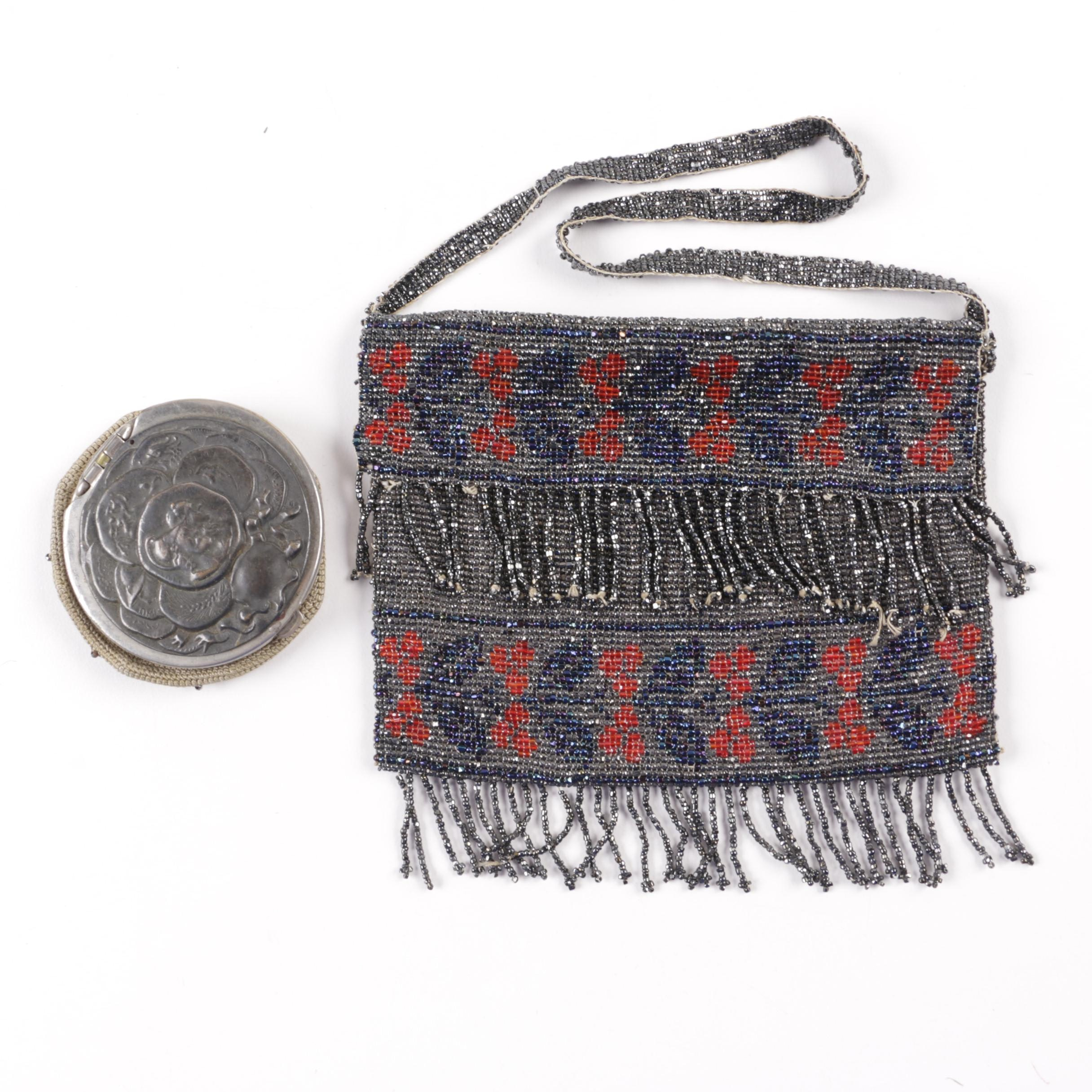 C. 1903 Beaded Coin Pouch and Handbag
