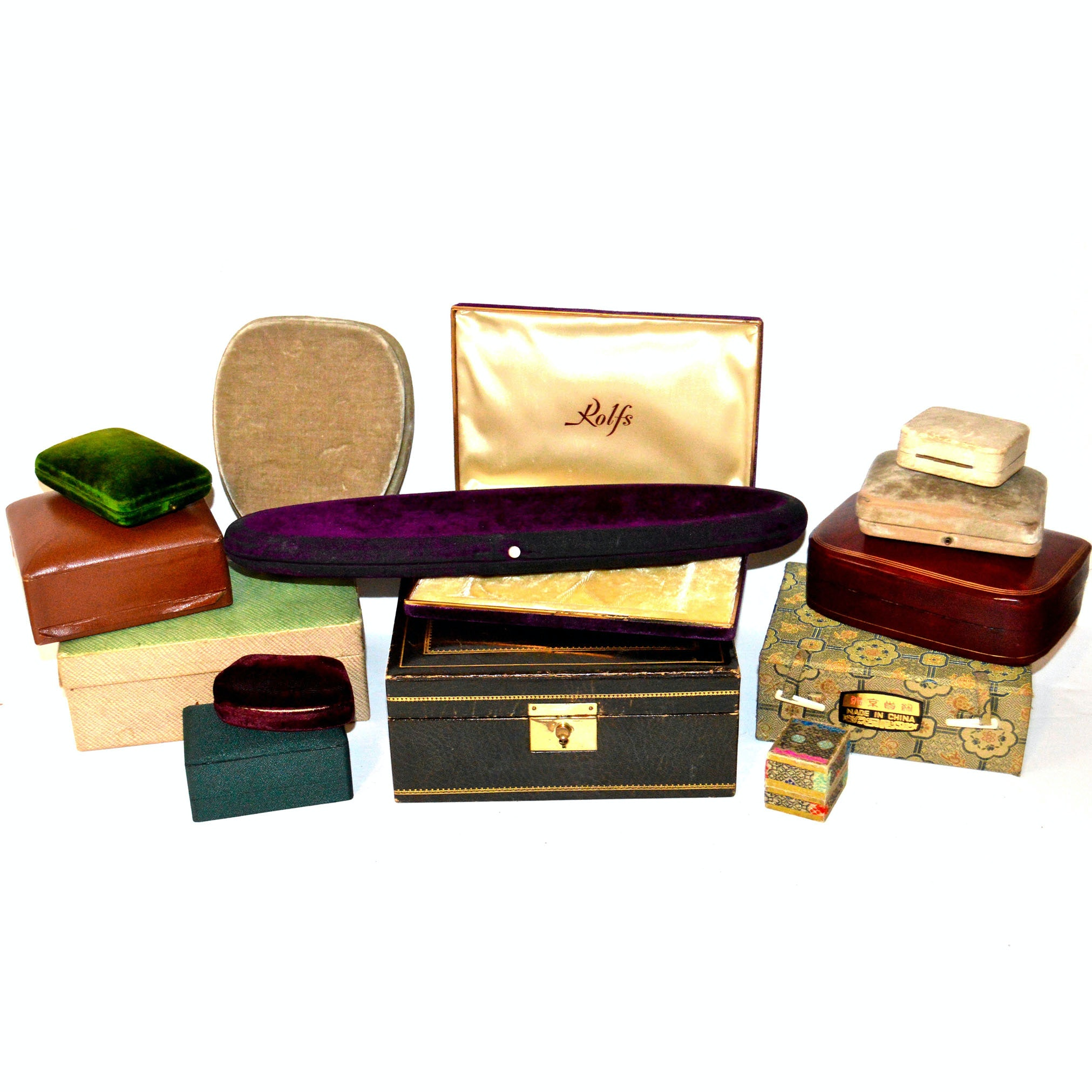 Vintage Department Store and Designer Jewelry Boxes, Featuring Gucci