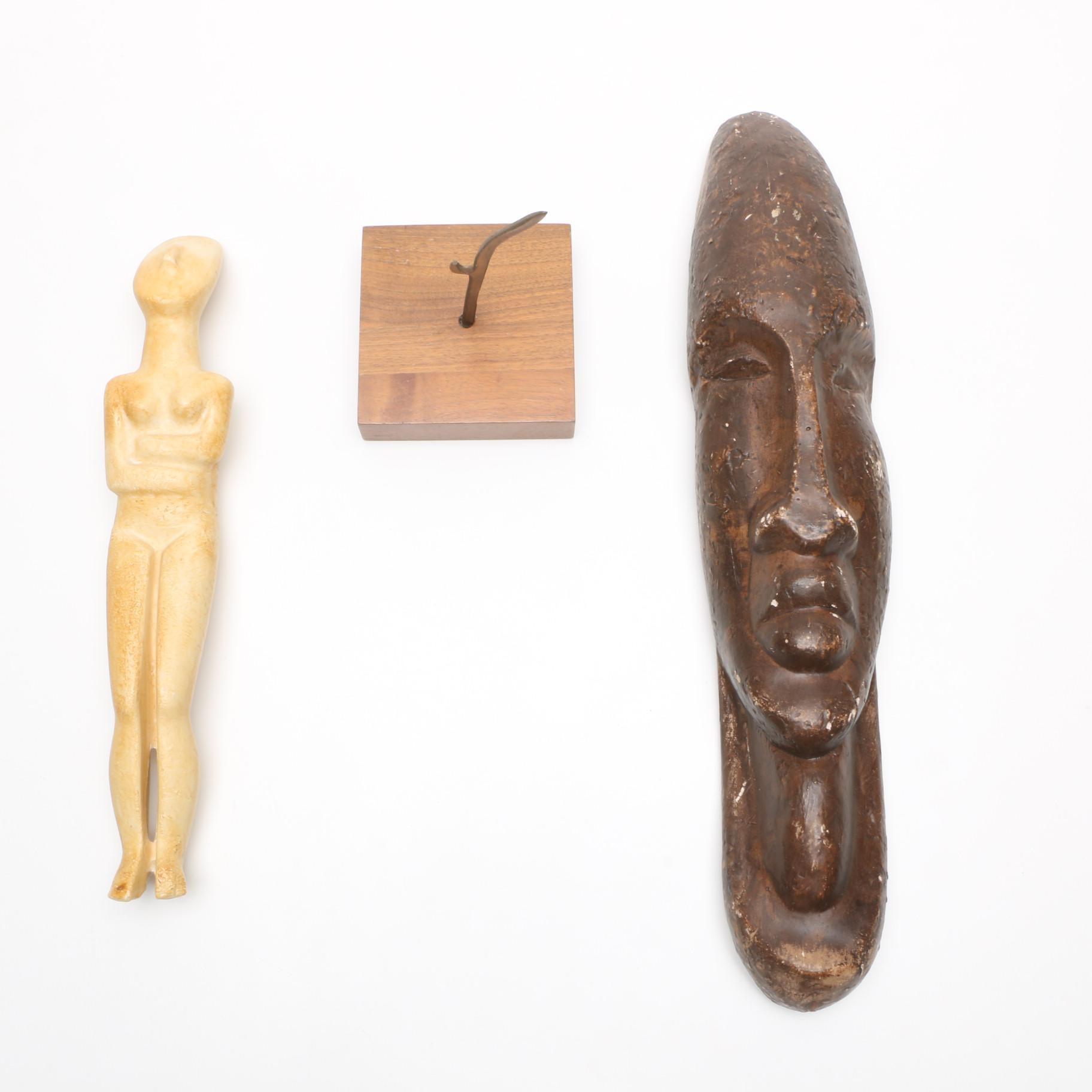 Stylized Figural Wood Decor