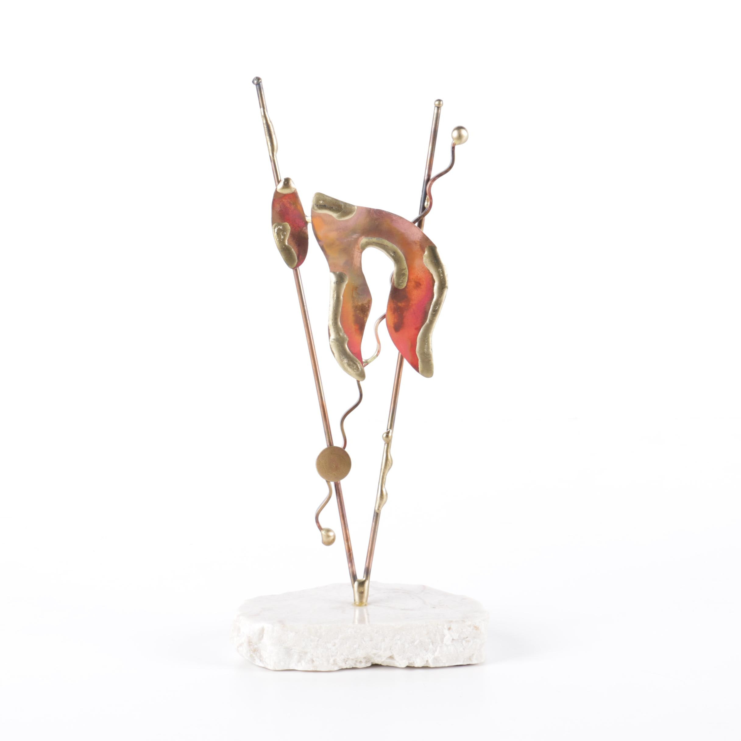 Gary Rosenthal Abstract Copper Sculpture