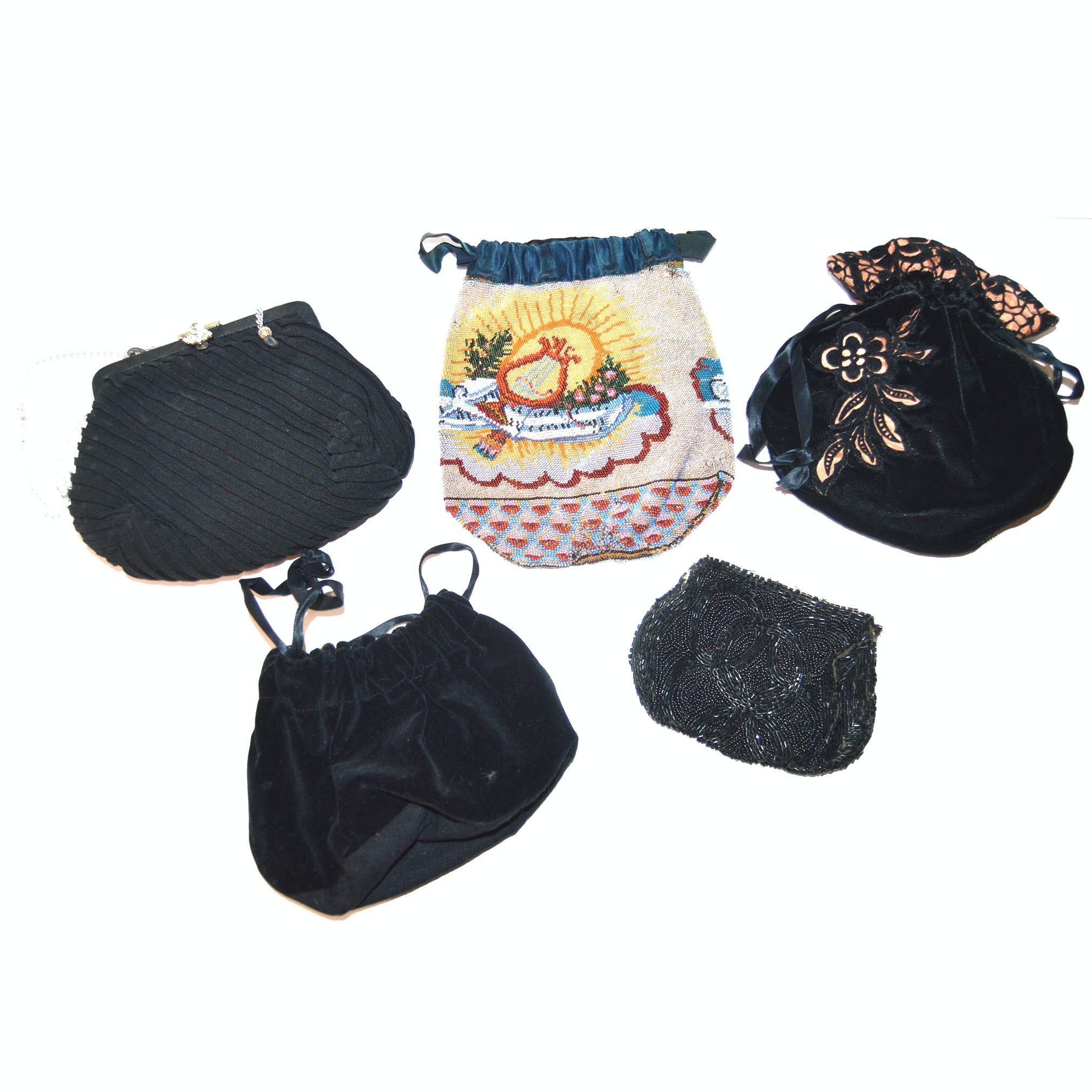 Five Vintage Embellished Handbags
