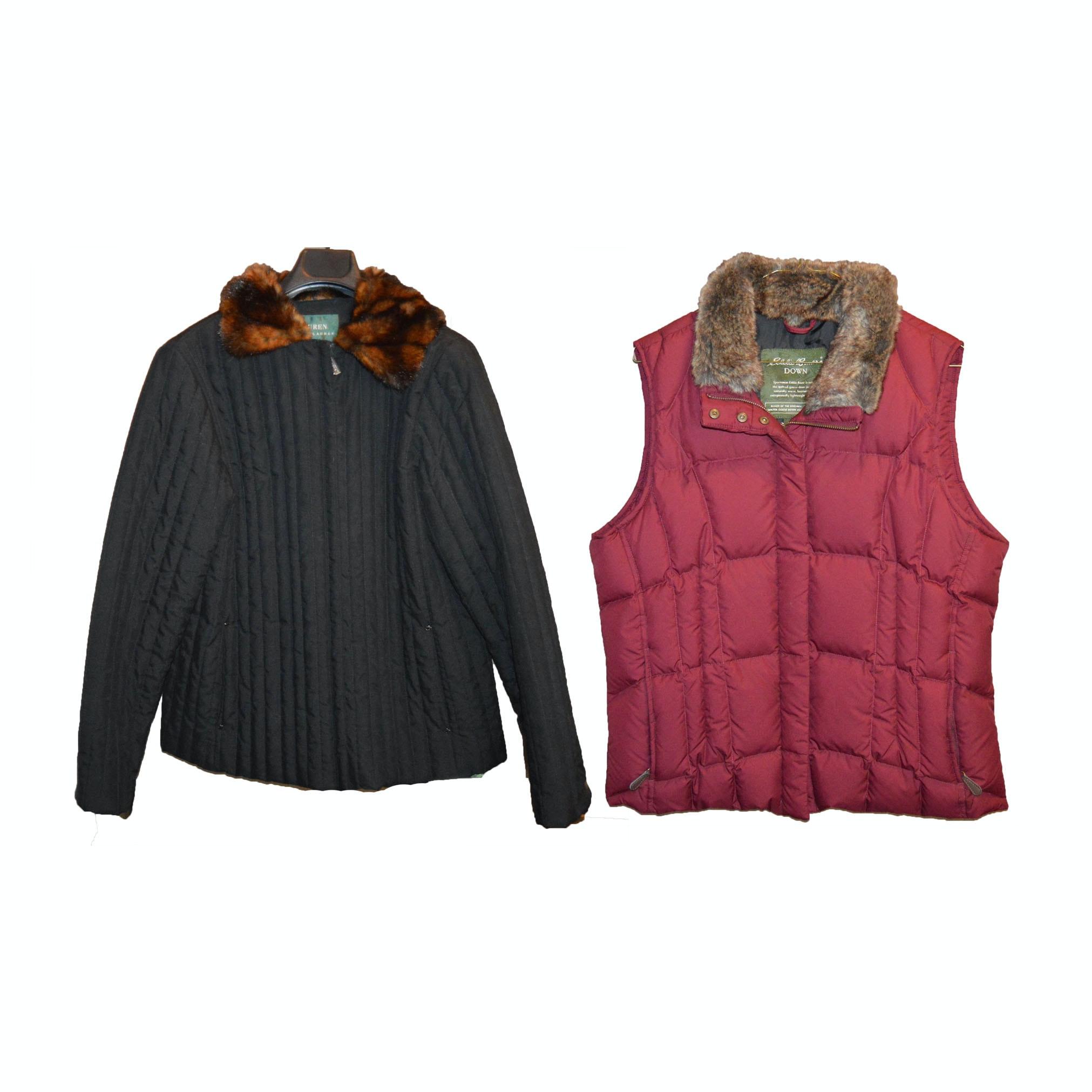 PRIORITY-Ralph Lauren Coat and Eddie Bauer Down Vest ...