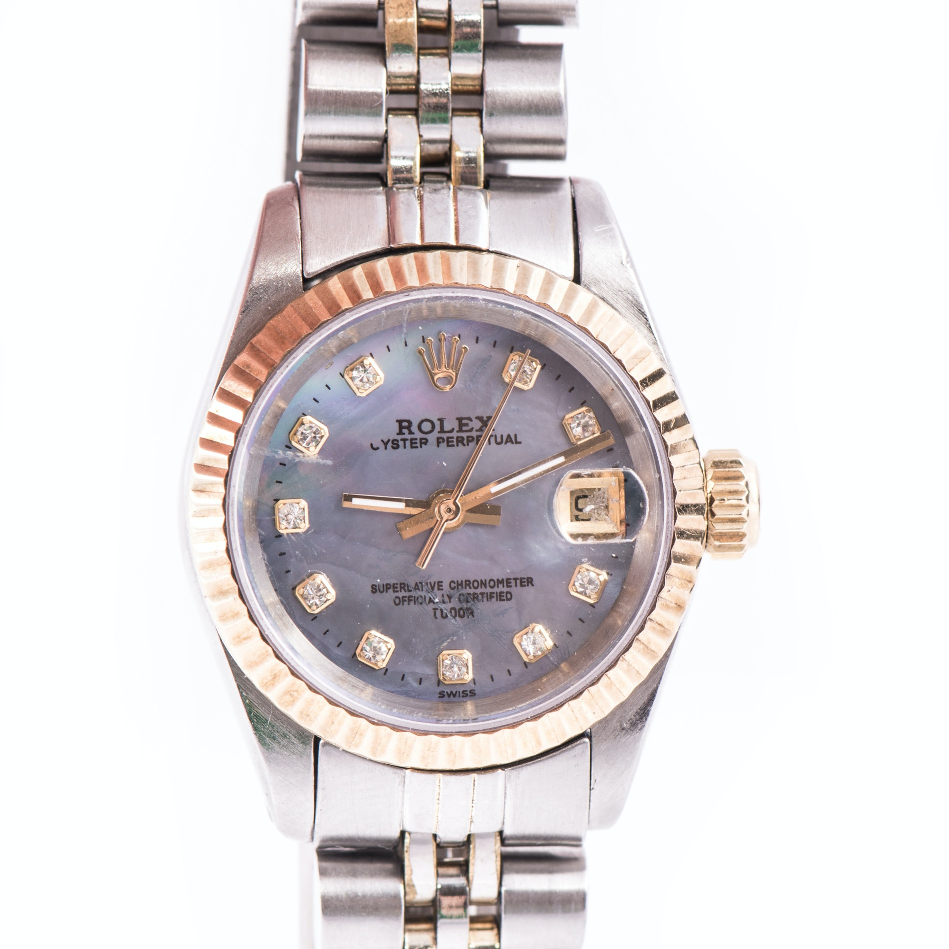 Rolex 18K and Stainless Steel Oyster Perpetual Wristwatch