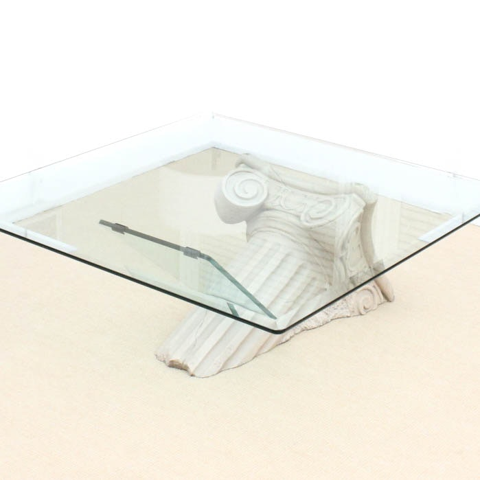 Classical Inspired Glass Coffee Table