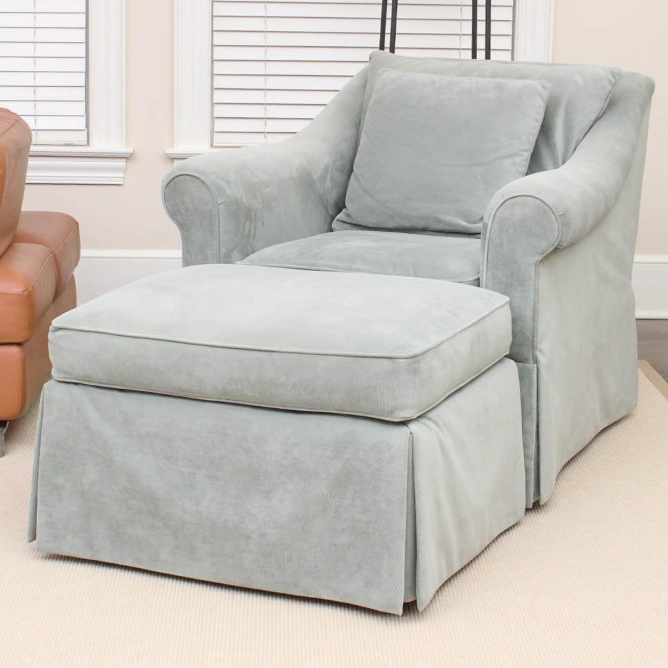 Ralph Lauren Chair and Ottoman