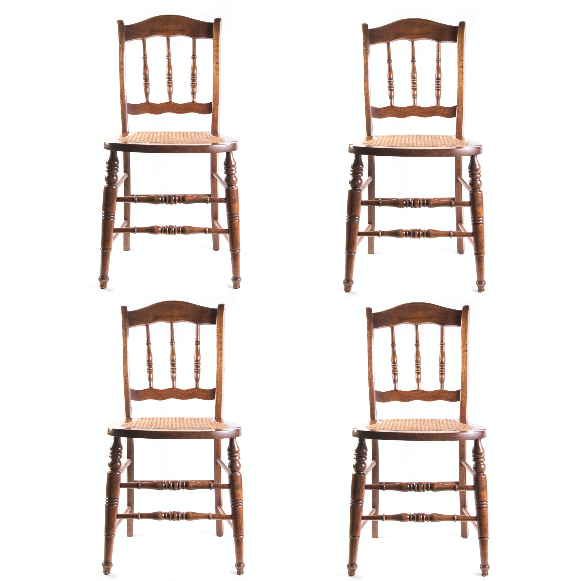 Vintage Chairs with Caned Seats