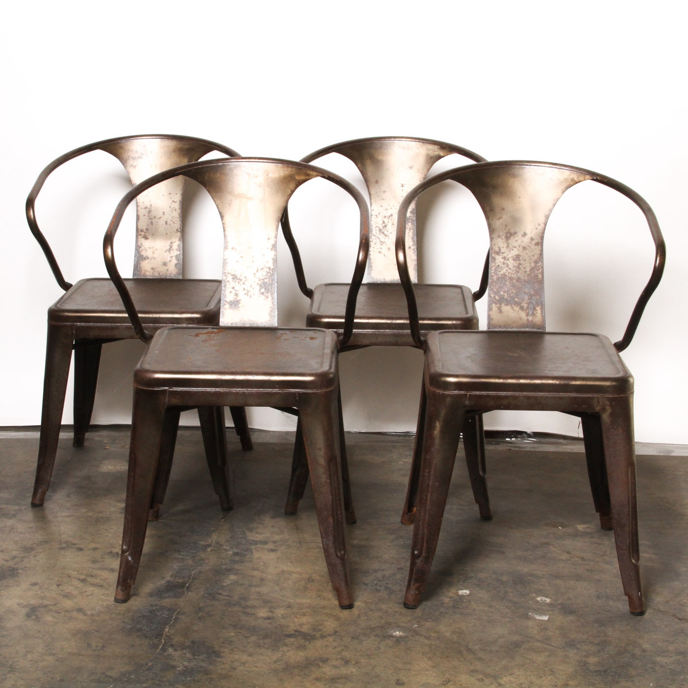 Beau Set Of Tabouret Or Bistro Style Dining Chairs ...