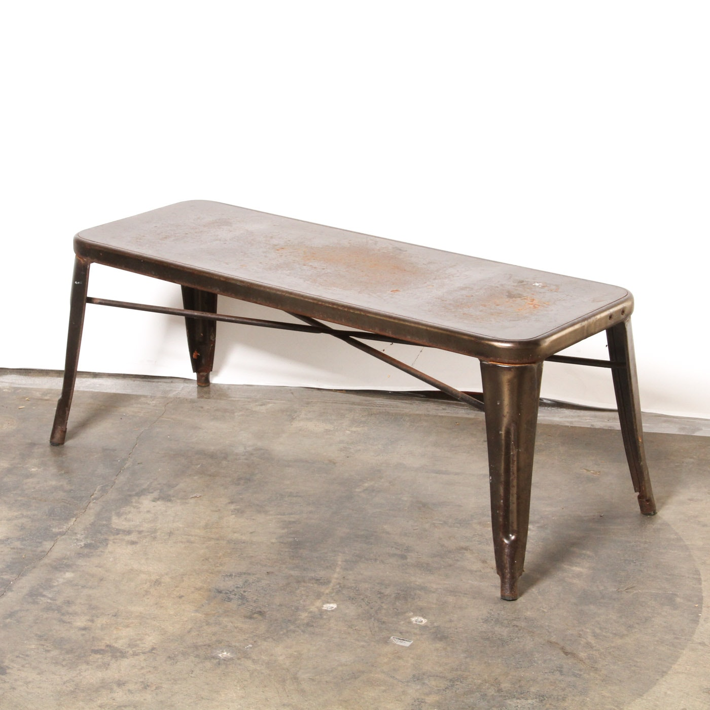 Mid-Century Industrial Style Bench