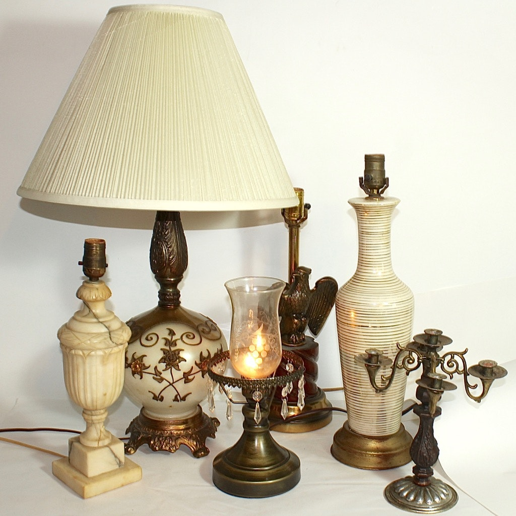 Vintage Table Lamp Group