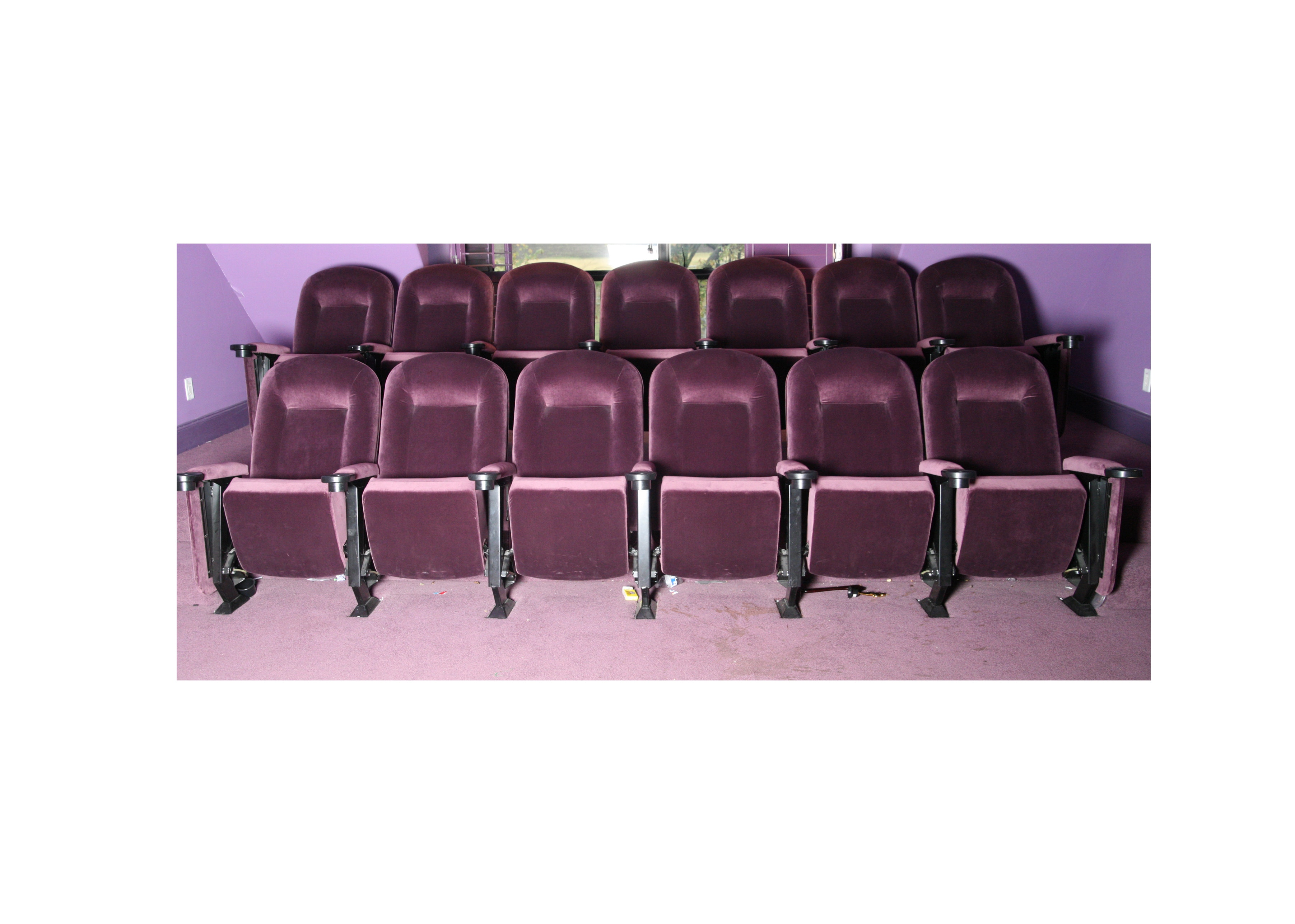Purple Velour Theater Chairs