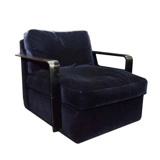 Ralph Lauren Chrome Club Chair