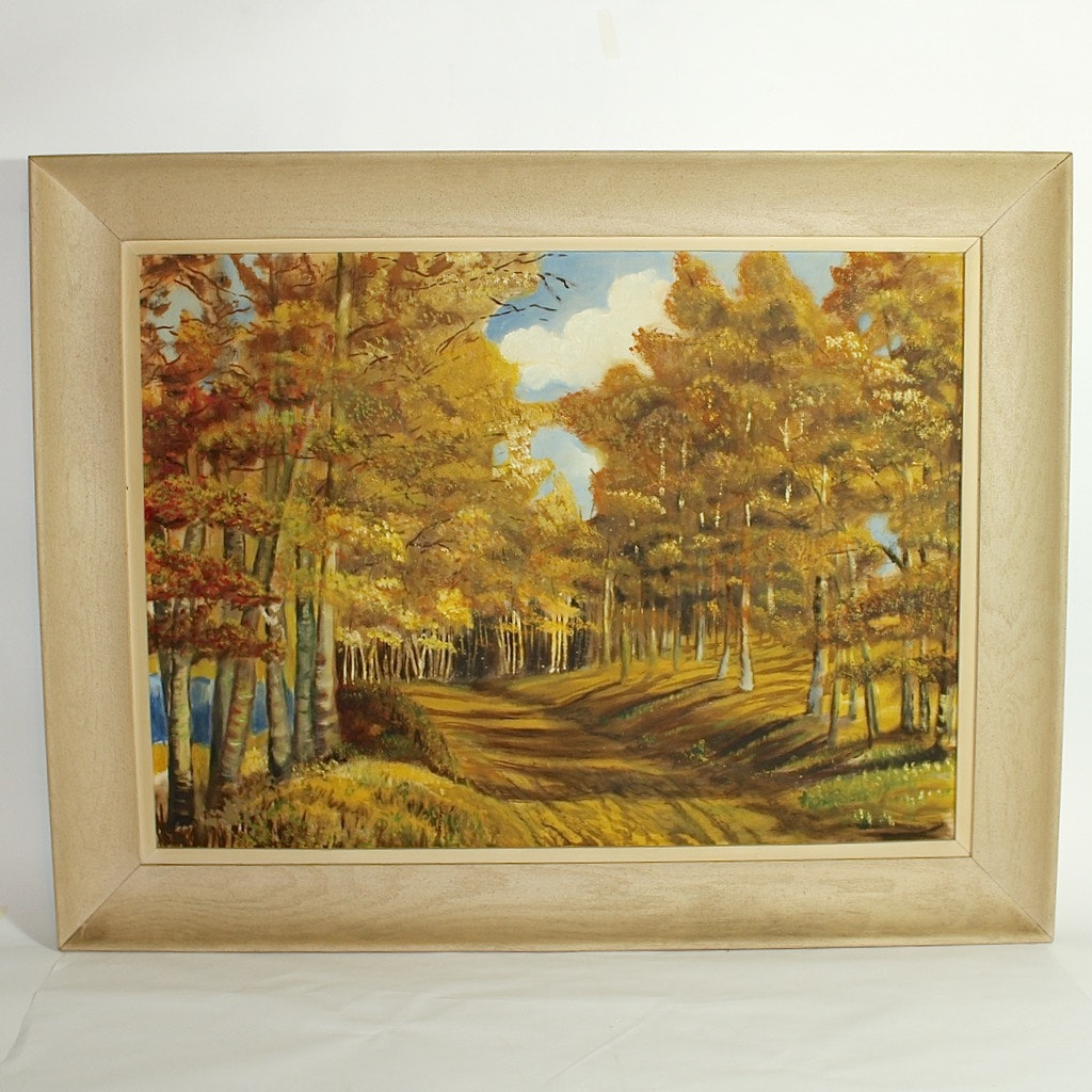 Original Oil of Fall Landscape Scene
