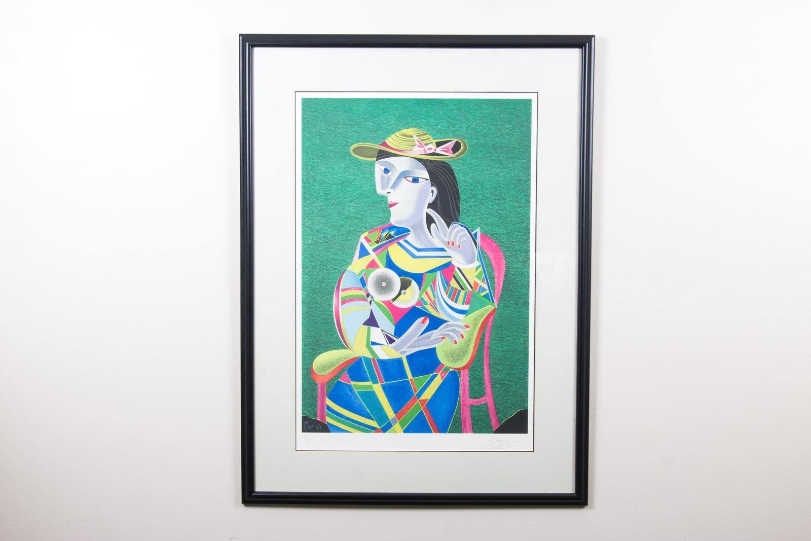 """Transformation de Picasso Suite, No. IV"" Signed Mihail Chemiakin Lithograph"