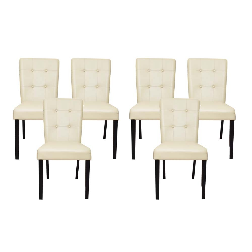 Faux Leather Upholstered Dining Chairs