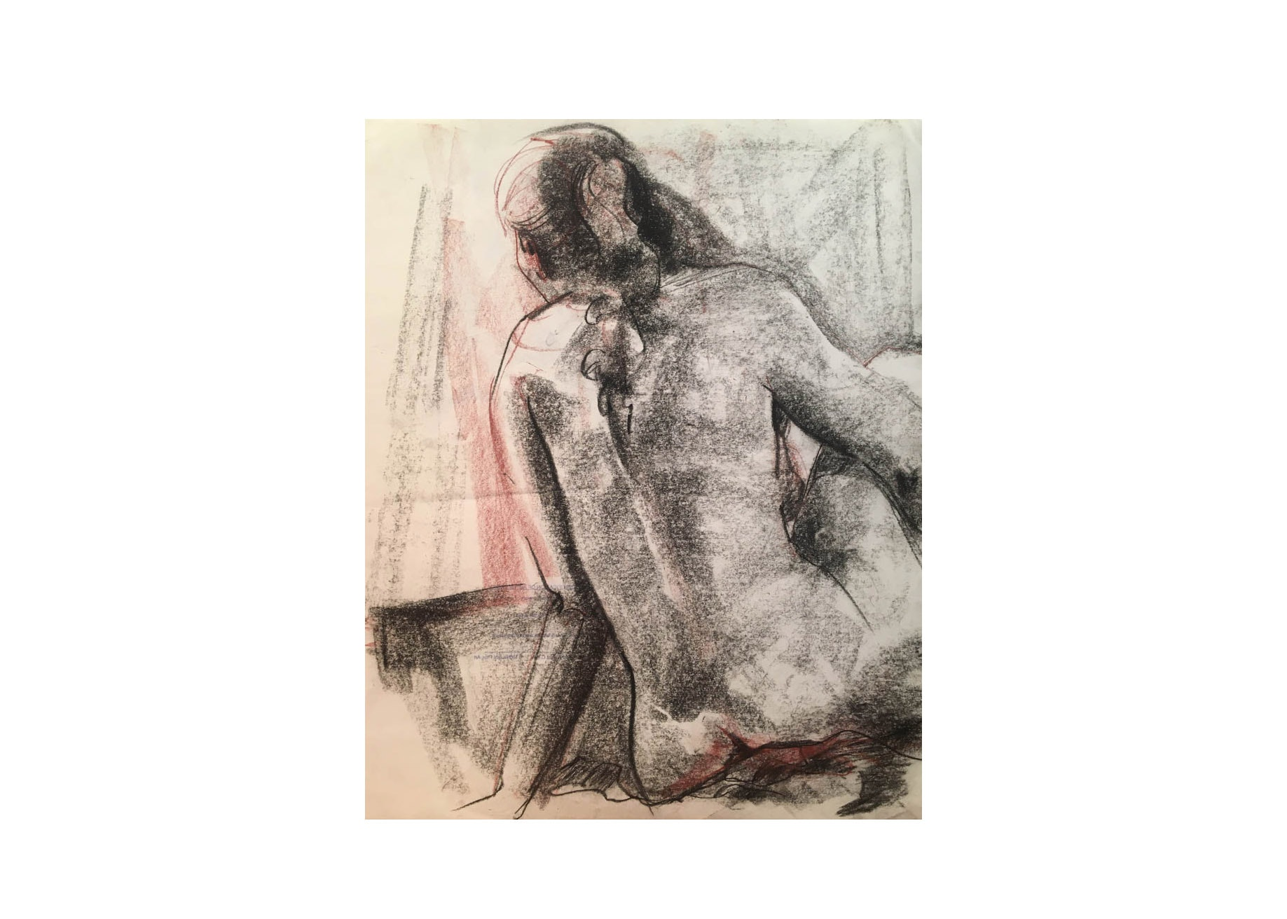 Study of a Woman by Michael Decker, 1980's