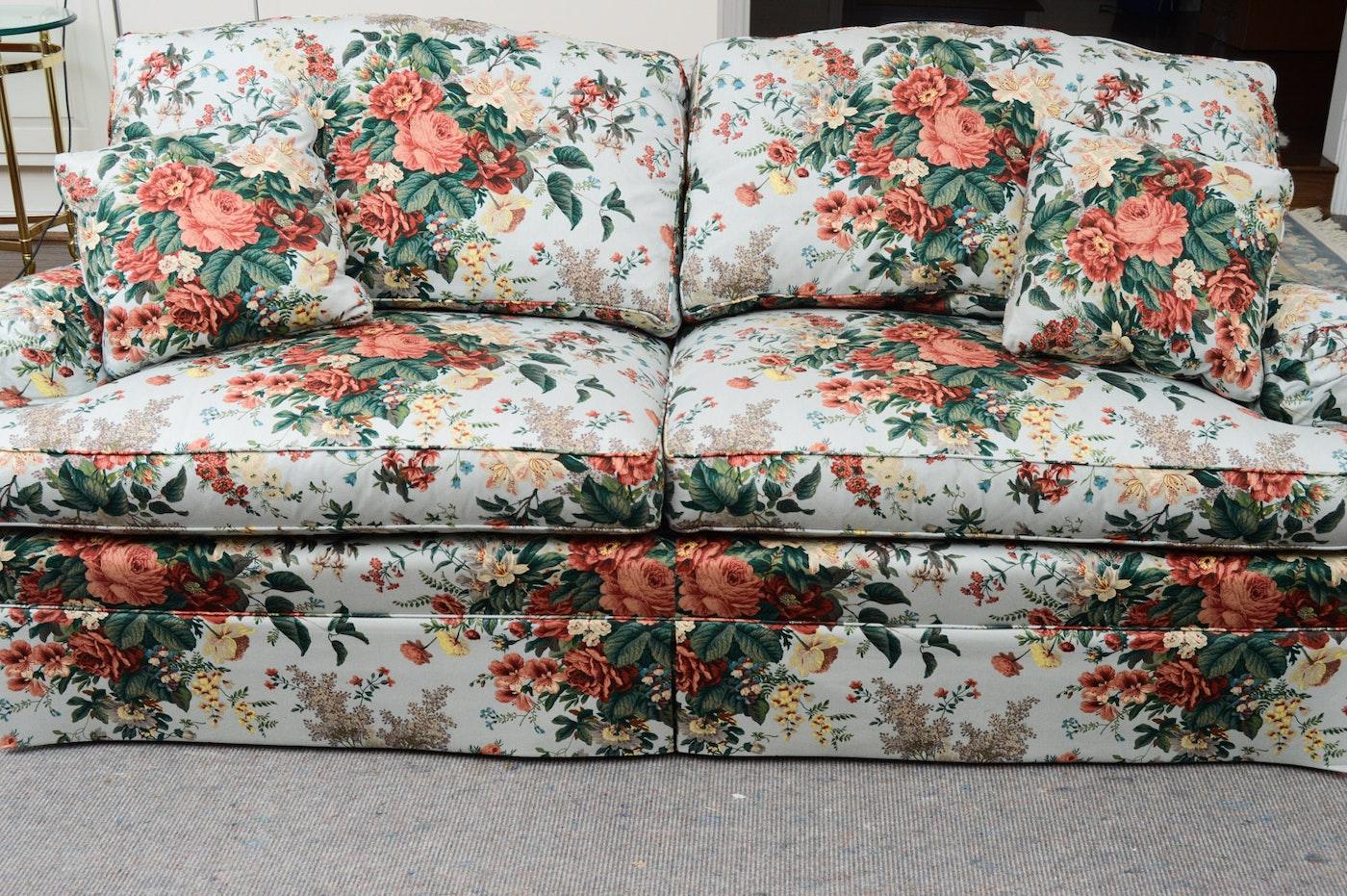 Henredon Floral Sofa Ebth