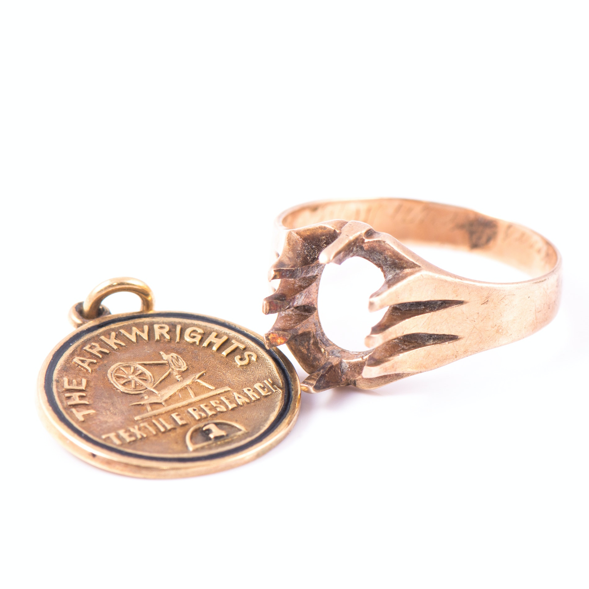 10K Gold Pendant and Ring Mounting