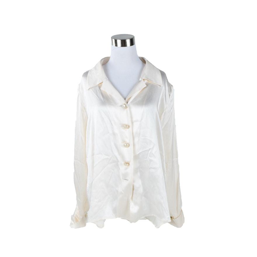 8379c6bacf6a1 Women s Vintage Yves Saint Laurent Rive Gauche Silk Blouse   EBTH