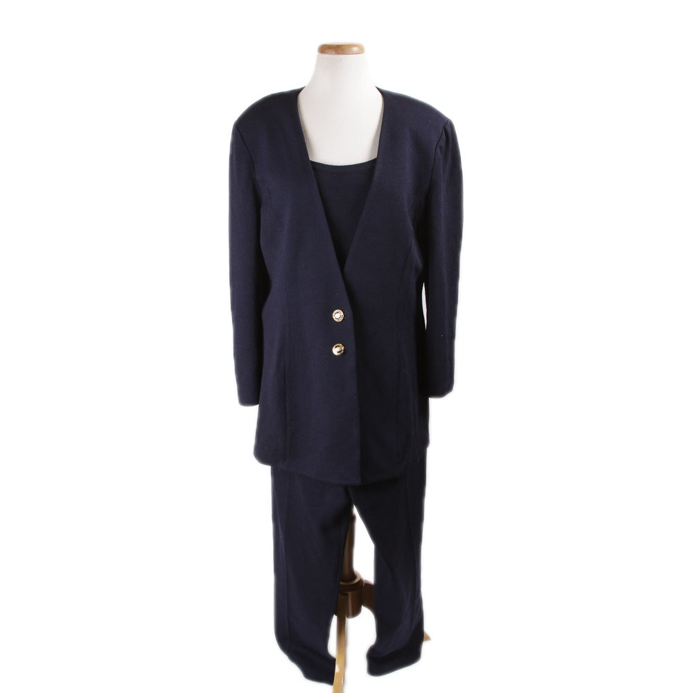 St. John Women's Wool Blend Suit Set