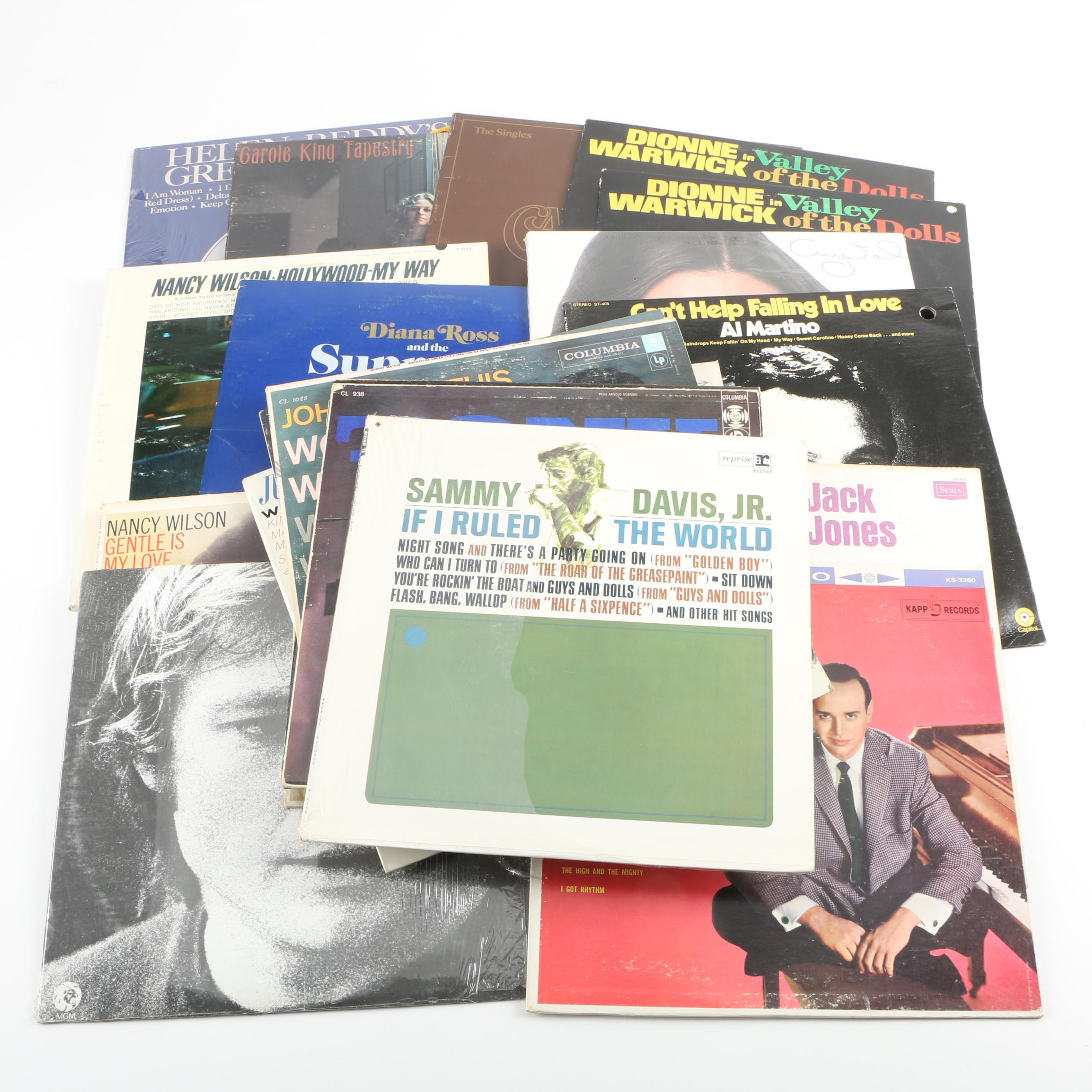 Vintage Pop and Rock LP Record Collection