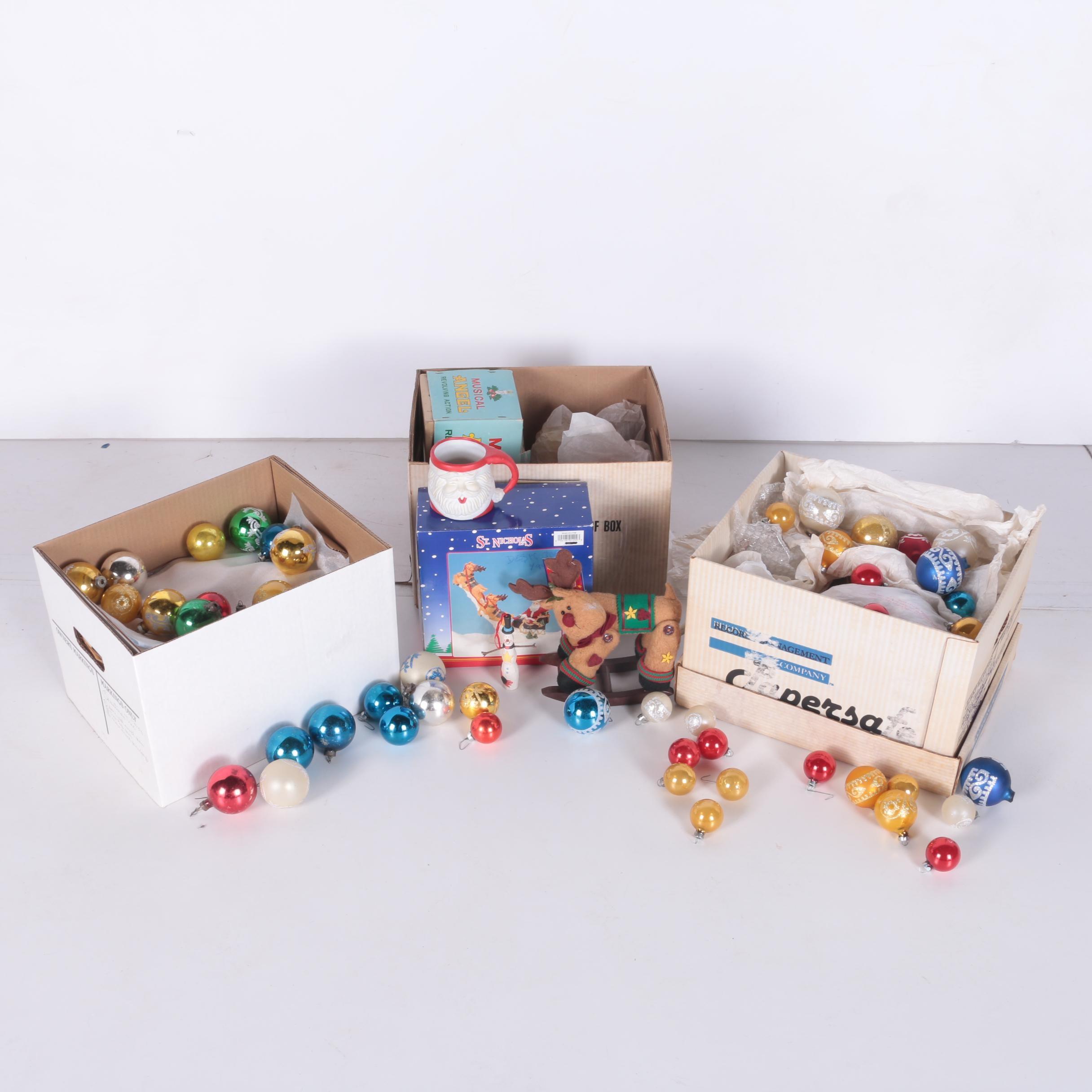 Boxes of Christmas Decor
