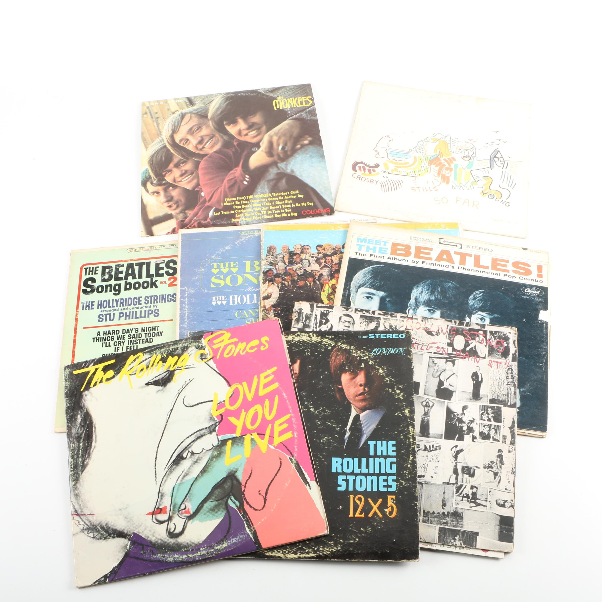 Beatles, Rolling Stones, and More LP Collection