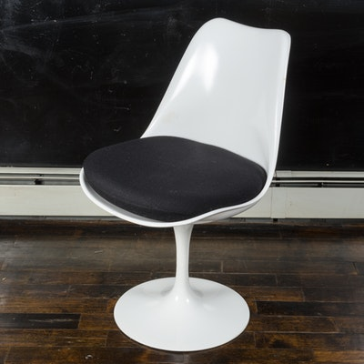 "Mid Century Modern ""Tulip"" Armless Chair by Saarinen for Knoll"