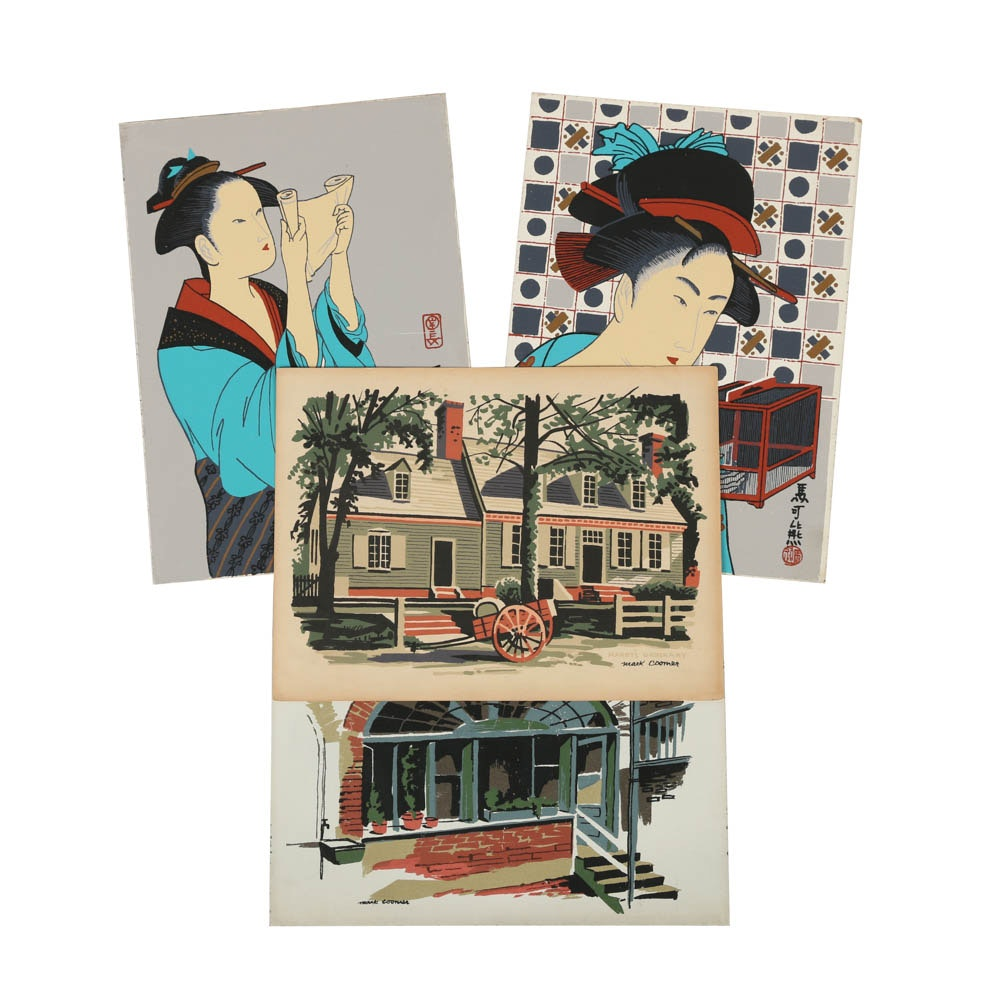 Variety of Mark Coomer Limited Edition Serigraphs of Various Themes