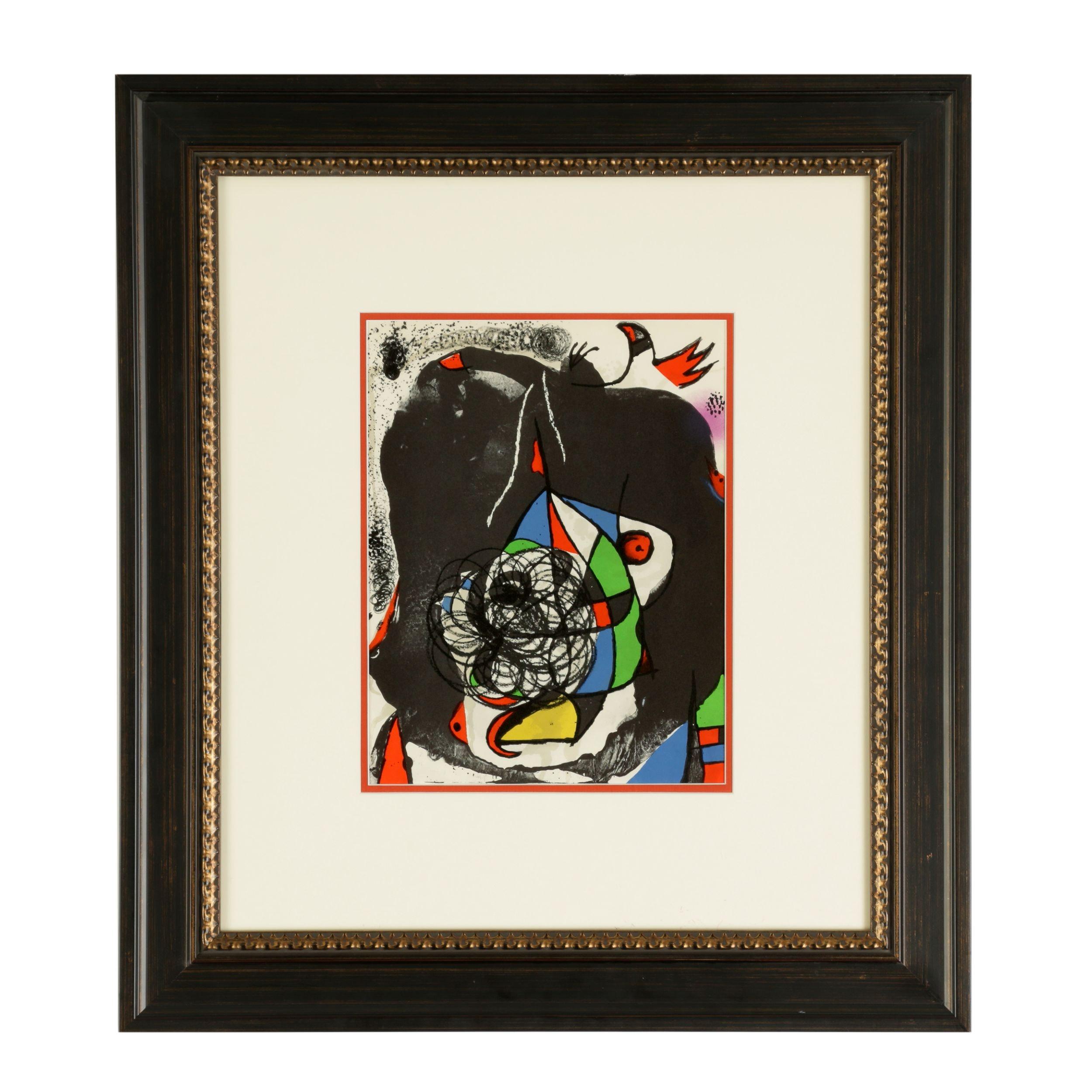 """Joan Miro Color Lithograph from """"Les Révolutions Scéniques de XXe Siècle"""""""