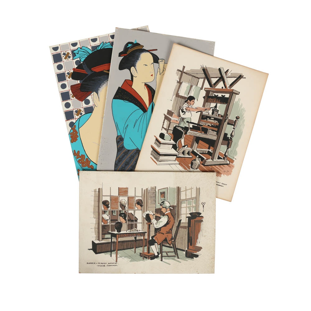 Collection of Mark Coomer Limited Edition Serigraphs of Various Themes