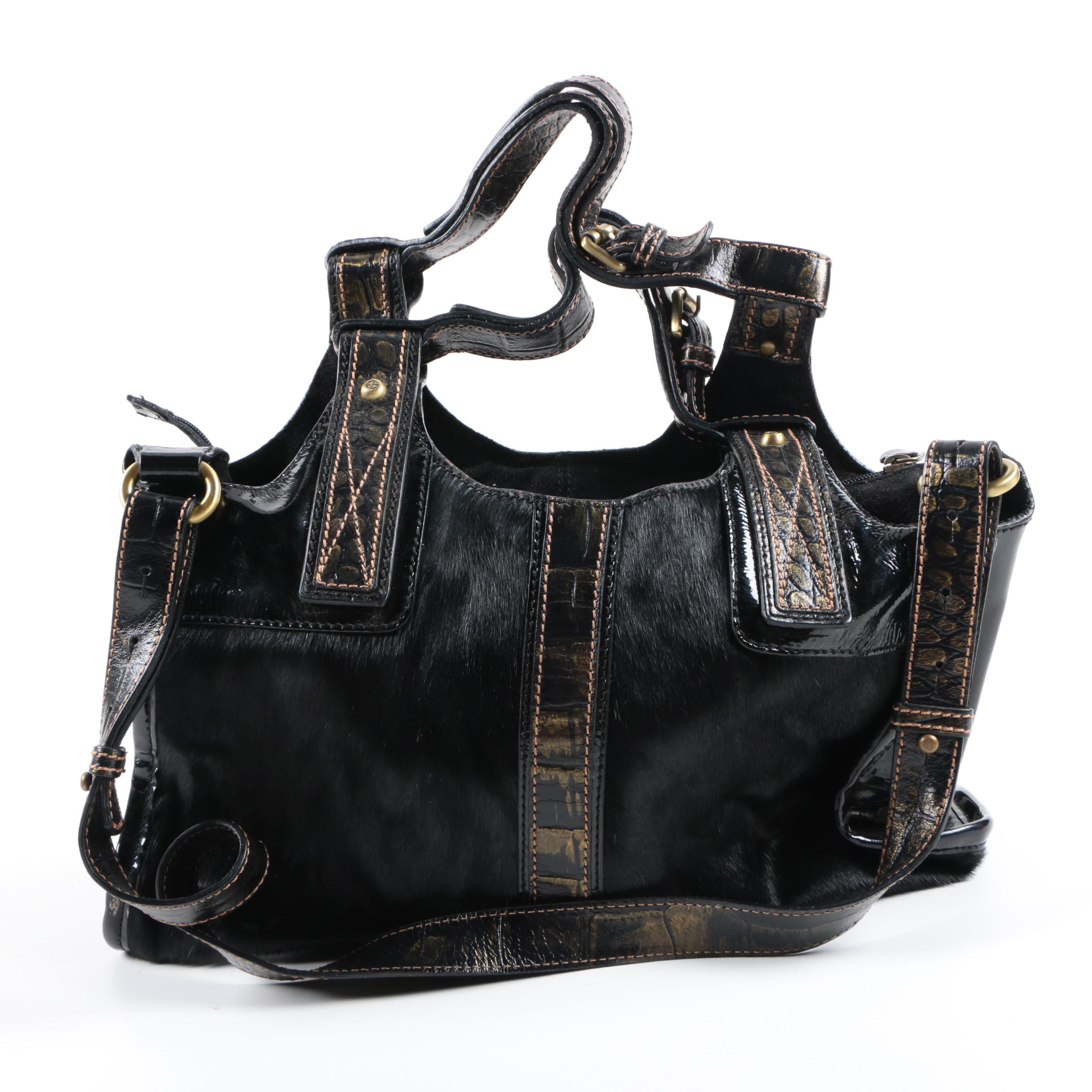 Francesco Biasia Calf Hair Satchel