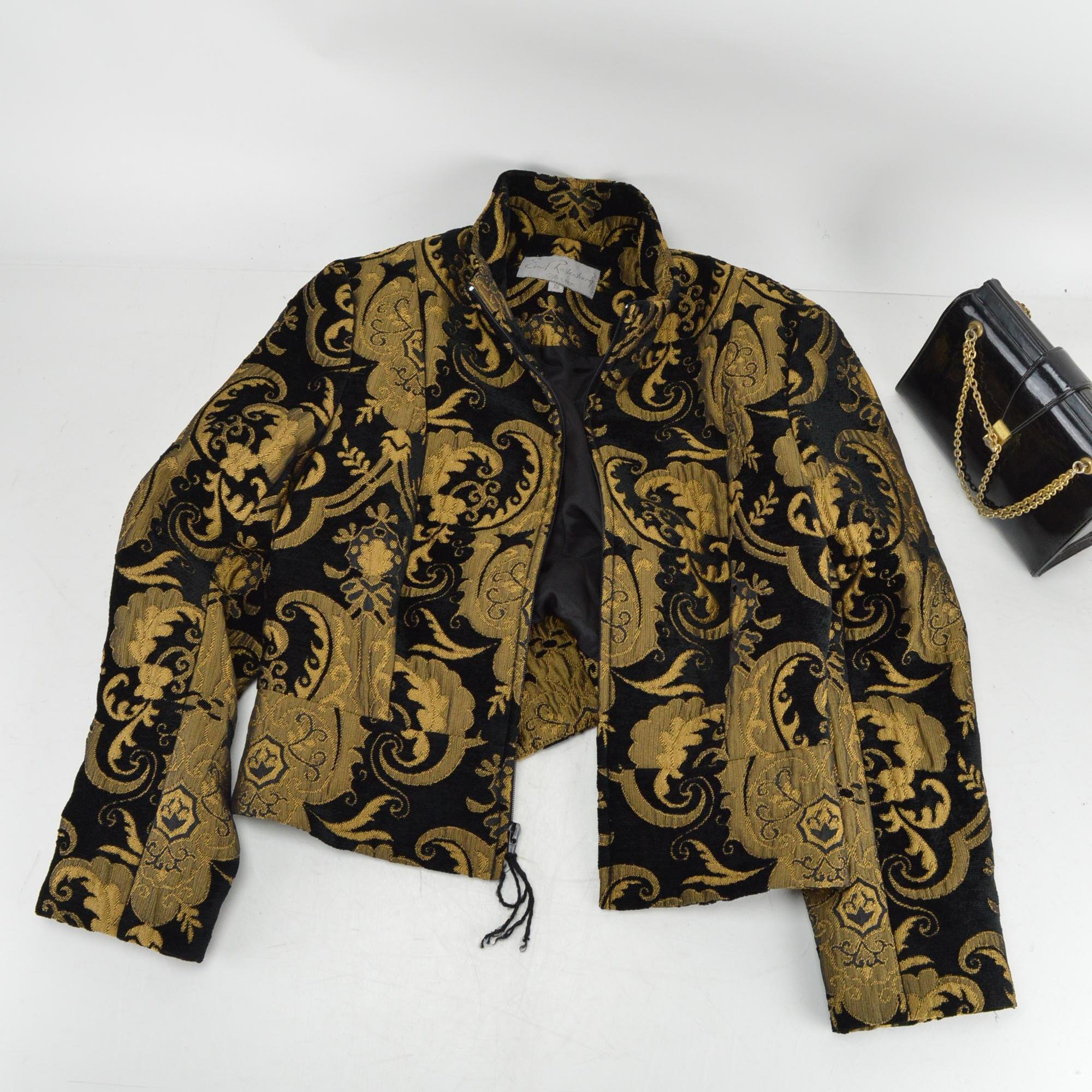 Vintage Earl Rosenberg Collection Jacket and Patent Leather Handbag