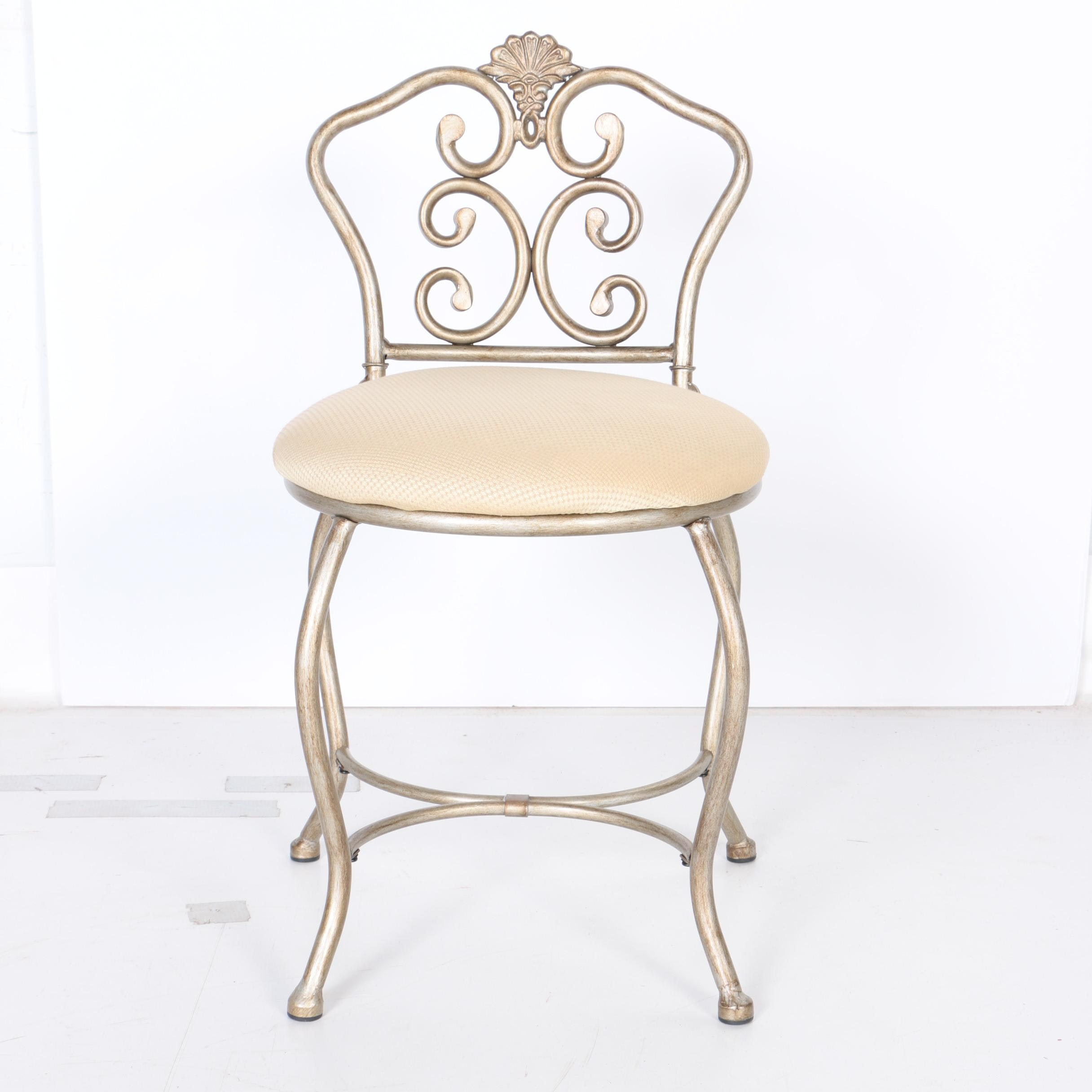 French Provincial Style Vanity Stool
