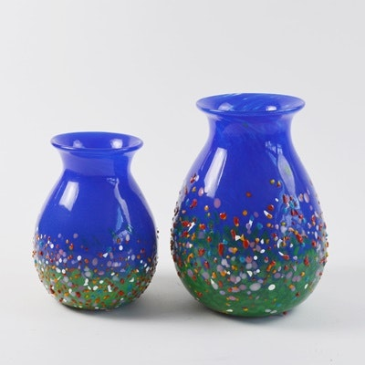 Two Art Glass Vases by Madara