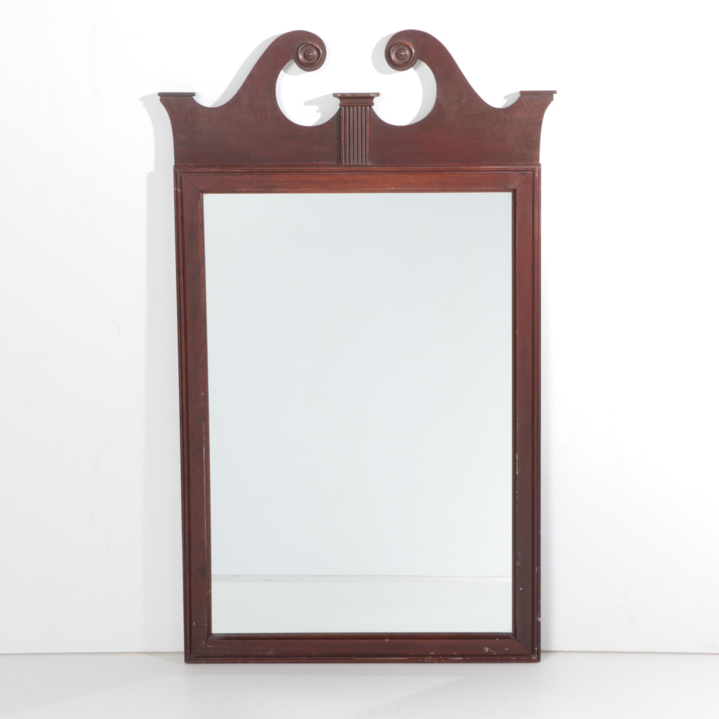 Georgian Style Wall Mirror with Pediment