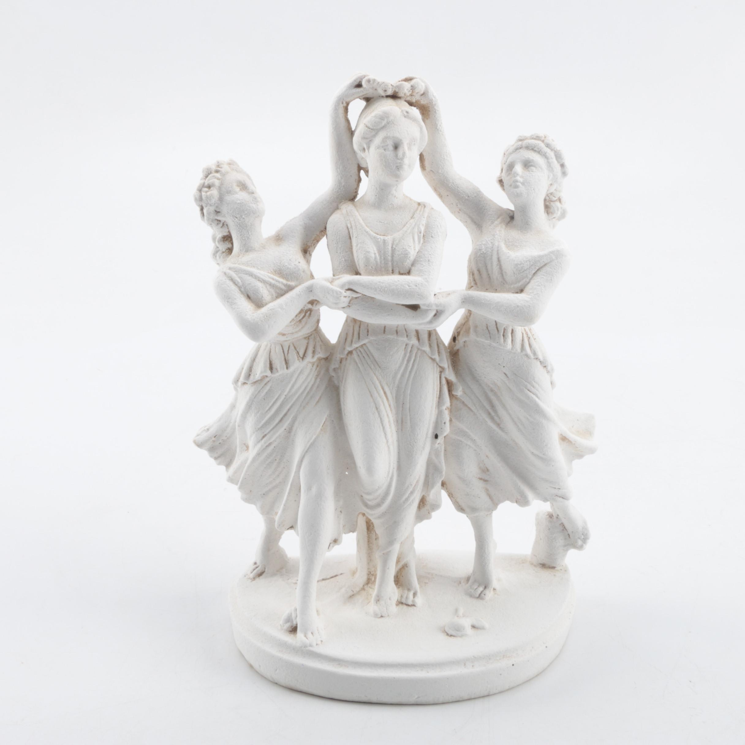 """Reproduction Plaster Sculpture """"The Three Graces"""""""