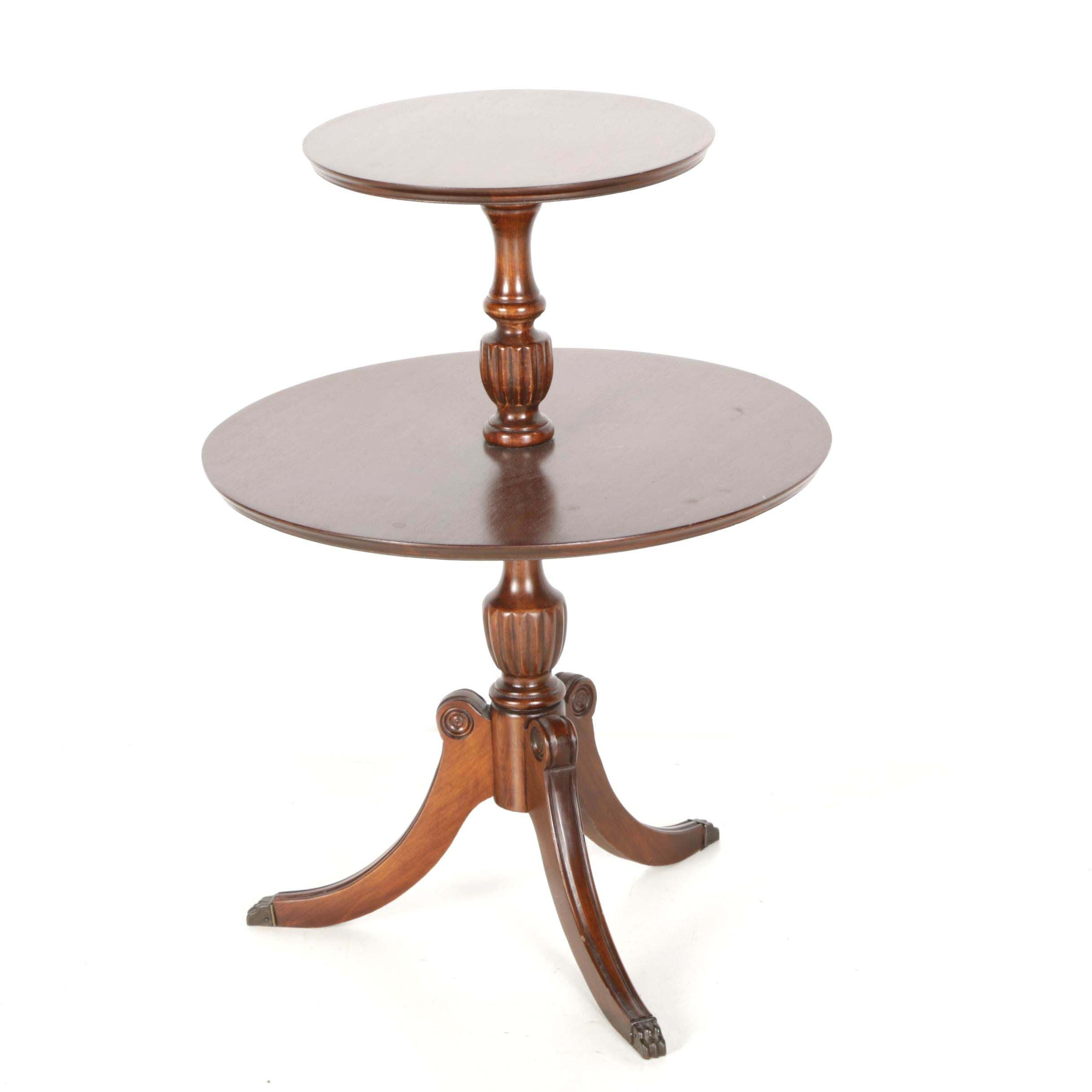 Federal Style Two-Tier Accent Table
