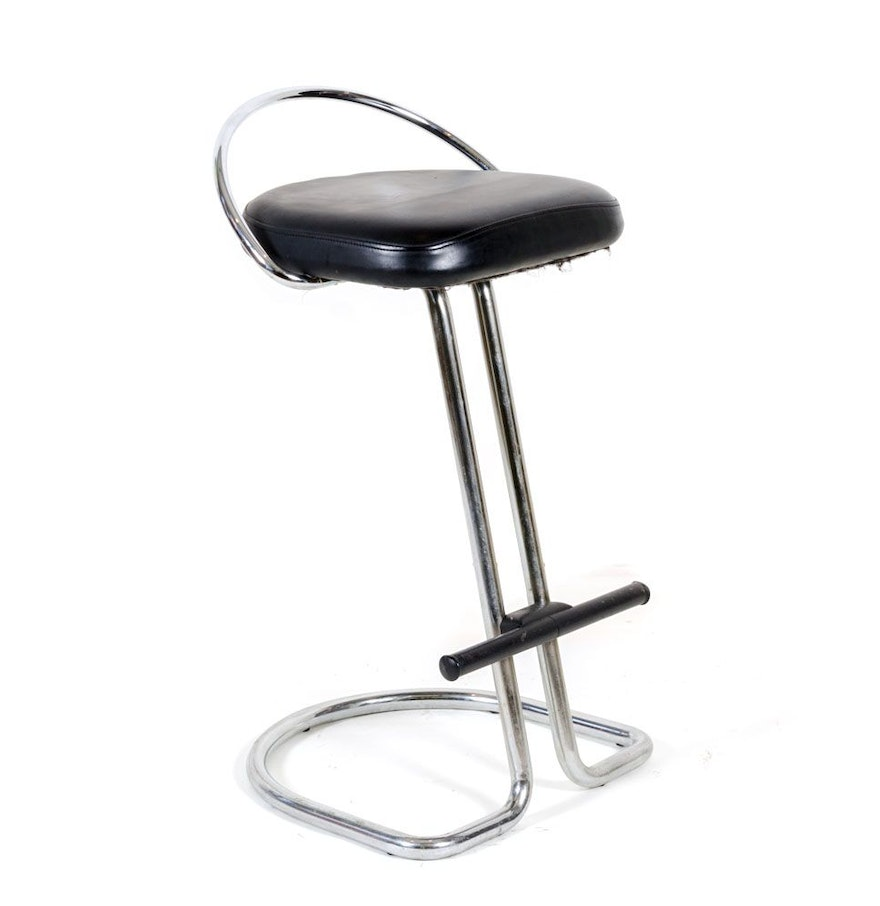Fabulous Modernist Italian Leather And Metal Stool Camellatalisay Diy Chair Ideas Camellatalisaycom