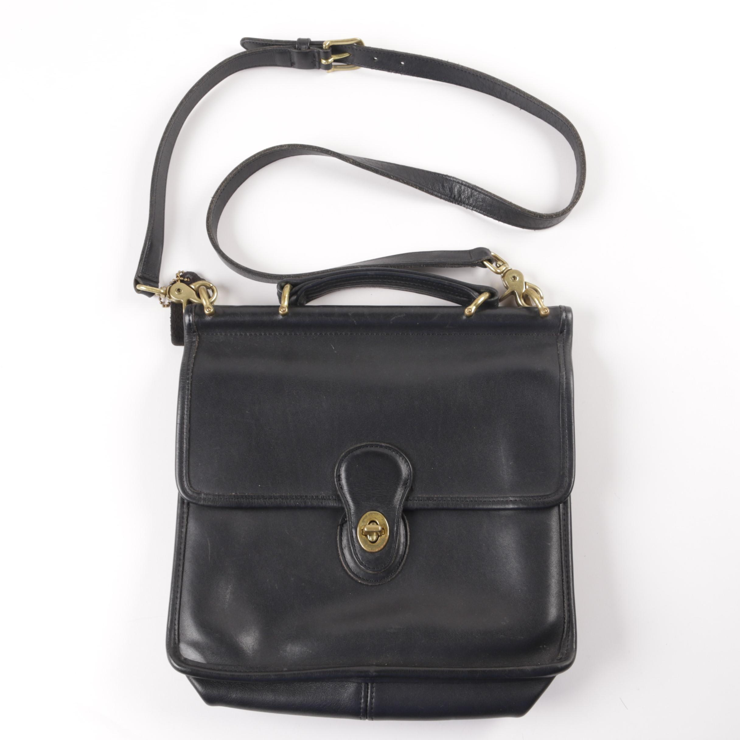 Coach Willis Black Leather Crossbody Bag